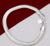 European and American fashion jewelry 925 silver 6M soft snake bone bracelet H164