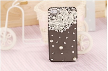 10pcs/Lot  New Hot Fashion Mickey head phone case cover  for iphone4 case diamond cell phone protection shell