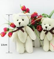 10PCS Kawaii Joint Teddy Bear  Plush Stuffed Toy Doll ; Size in 10CM Small Wedding Gift TOY ; Key Chain Bouquet