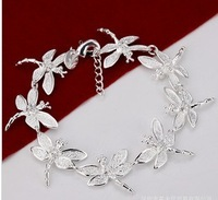 Korean wild fashion jewelry silver plating, creative personality style eight dragonfly bracelet H121