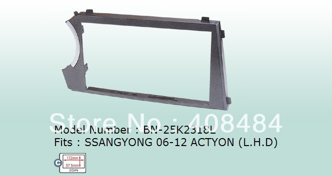 Fascia,2DIN Panel,Special Car Audio Refitting Frame,car DVD Panel for SSANGYONG ACTYON L.H.D for retail/pcs+free shipping!(China (Mainland))