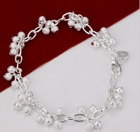 925 silver the wild fashion Japan and South Korea export hanging Sand Pearl grapes bracelet H087