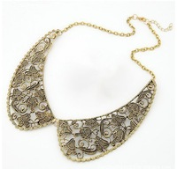 2013 New fashion women bib chocker necklace lace jewellry whoesale lot free shipping