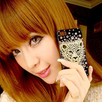 For for apple iphone 4 4s diy for apple 5 rhinestone pasted rhinestone phone case mobile phone case shell