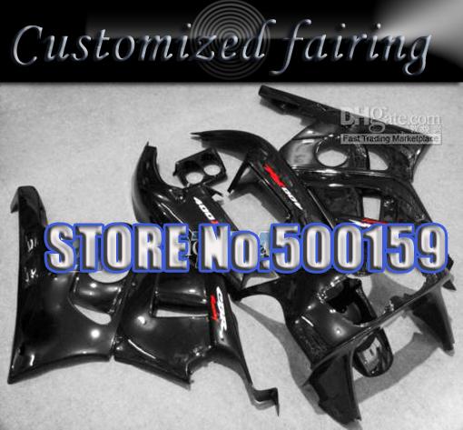Customized fairing -All black body fairing kit FOR Honda / Honda CBR400RR MC23 88 89 90 CBR 400 RR NC23 1988 1989 1990(China (Mainland))