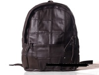 The trend of British style package package personalized men's black plaid fashion backpack computer shoulder bag
