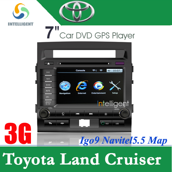 Free shipping 7 inch 3G internet Car DVD player in dash car radio GPS for Toyota Land Cruiser with GPS RDS,Car DVD system(China (Mainland))