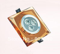 Free shipping 3 Watt Crystal LED ceiling light/High power led light