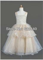 Free Shipping Custom-made Unique Design Flower Girls Dress Wholesale/Retail