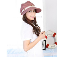 The summer sun hat female empty top hat can remove 2 use sunscreen Riding Hat