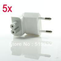 5pcs/lot Free Shipping White EU Plug Converter Power Adapter Charger For Apple Macbook iPhone iPad HP058EU