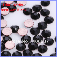 Free Shipping! 1440pcs/Lot, ss16 (3.8-4.0mm) High Quality DMC Jet Black Iron On Rhinestones / Hot fix Rhinestones