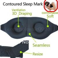 Soft PADDED EYE Sleep Mask Shade Cover blindfold Sleeping Eye for Travel/rest wholesale