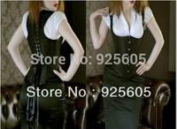 Free P&P Women Corsets,Wholesale Corset+G String Set,Sexy Shaper for women,Steel boned Stripe Bowknots Bustier Size:S-2XL 830