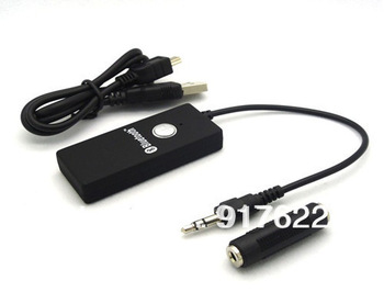 Wholesale New Bluetooth A2DP 3.5mm Stereo HiFi Audio Dongle receiver Adapter Transmitter Free shipping