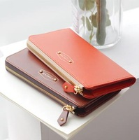 Free shipping 2013 multifunctional mobile phone bag women's long design zipper wallet women's wallet coin purse