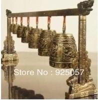Exquisite RARE Asian Feng Shui Dragon Brass Serial Bell
