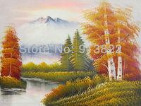 Free shipping(6 pcs/lot) oil paintings 100% handmade high Q. modern art  landscape wall decor