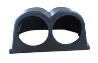 Free shipping 2.5 inch 2 holders auto meter holder,60mm flat gauge pods (black )