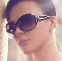 100% UV resistance material+  Fashion beautiful tortuosity  style women's  sunglasses(5color mix)