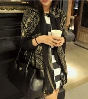fashion scarf   woman  cotton shawl, cotton scarf deer pattern  H-098
