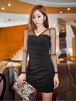 018 women's fashion slim hip slim one-piece dress
