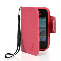 Free shipping beautiful colors delicate clamshell holster durable cover + screen FOR SAMSUNG S5360 GALAXY Y hotpink