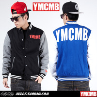 Ymcmb baseball uniform male baseball shirt jacket men's clothing lil wayne trend baseball clothing outerwear