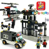 Small luban blocks riot model
