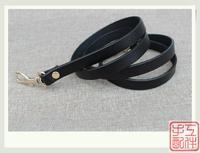 high quality 1cm 120cm long genuine leather bag strap
