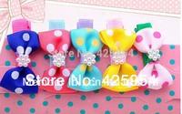 40pcs/Lot Ribbon Bows Hairpins For Hair Baby Girls Headwear Hair Accessories Children Clips For Hair Bows Barrettes Tiara