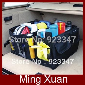 Free Shipping Black Color Multi-use Car Auto Storage Box/Car Boot Organiser Bag/Tools organizer 1pcs/lot
