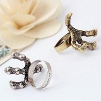 0353 Min order is $8 ( mix order ) Fashion Jewelry Vintage Exaggerated Eagle Claw Finger Ring Resizable