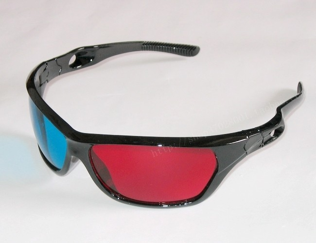 Free Shipping 2013 Hot Sale Red &amp; Blue 3D Glasses Plastic Frame Resin Lens Dimensional Anaglyphic Digital Video Glasses 5pcs/lot(China (Mainland))