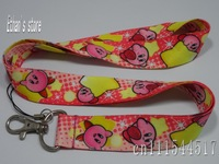 Pink Kids Kirby neck lanyard with star-shaped  ID Holders Free Shipping