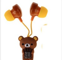 Cute little bear, Janpeanese style, cute gift for valentine, in-ear earphone,with package,free shipping