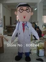 EVA Head Plush White Doctor Mascot Costumes High Quality Free Shipping