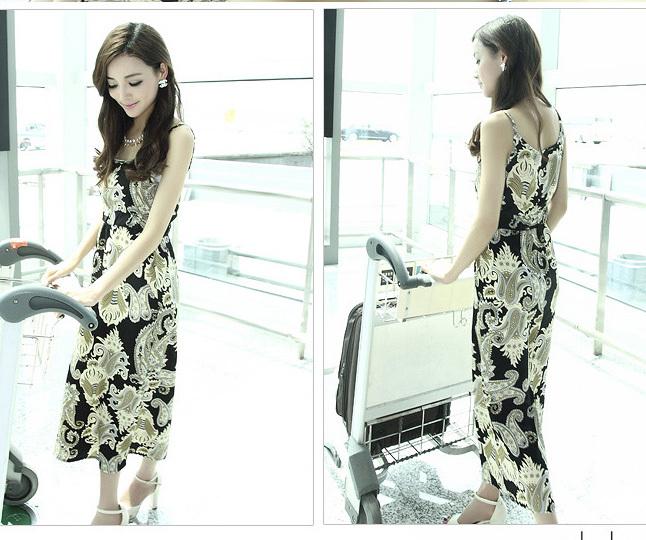 2013 new Fashion Ladies' elegant birds flower plant print Dresses