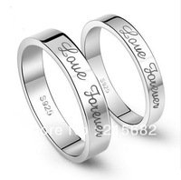 Italina love forever 925 sterling silver female men's couple  tail ring  jewelry free shipping can carve lettering Kedol-SL9003