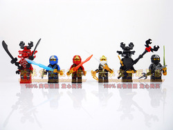 Decool 2013 new DIY 6 models ninjago minifigures ninja with weapons generation 6 building block sets eductional blocks kids toys(China (Mainland))