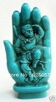 Collectables turquoise hand carved monkey king statue