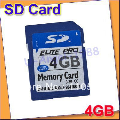 20pcs/lot free fedex.free shipping Hot Sell ! 4GB Micro SD card Secure Digital Flash Memory Card Adapter(China (Mainland))