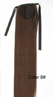 "Medium brown #8,22""  75G Silky straight Synthetic  Hair Horse tail hair/ Ponytail Hair,free shipping"