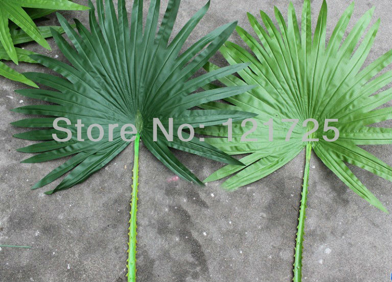 Artificial palm leaves home decoration artificial silk for Artificial banana leaves decoration
