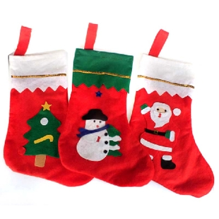 free shipping Christmas socks Christmas decoration pendant christmas gift bags gift bag Large Small candy bag(China (Mainland))