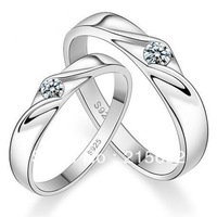 Italina 2103 new 925 sterling silver men women gem jewelry wedding embracing couple rings  free carve lettering Kedol-SL9016