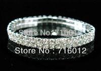 2 Rows Tennis Bracelet Multilayer Bracelets BC0153 Crystal Rhinestone Bracelet rhinestone bangle Free Shipping
