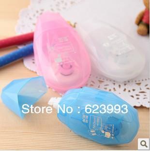 Free shipping Kawaii 3 colors blue white correction tape ribbon(China (Mainland))