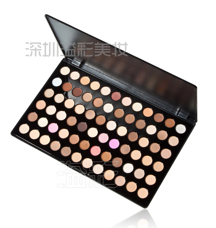 Free Shiping Cheap Beauty Product Series- Leading-The-Trend 72Warm Color Makeup Powder Eye Shadow Palette With Mirror & Brush(China (Mainland))