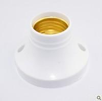 10pcs/lot E27 AC 110-240V White Plastic Light Bulb Lamp Socket Lamp Holder  Free Shipping